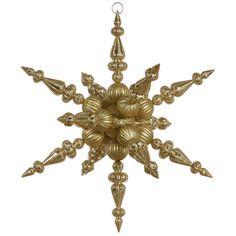 2.5' Vickerman N104108 Snowflakes - Gold