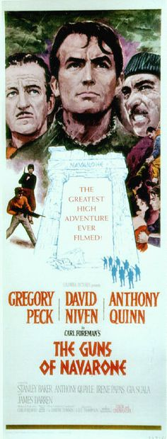 The Guns of Navarone 1961 Poster 1961 Movies, Old Movies, Great Movies, Cinema Posters, Film Posters, Movie Photo, I Movie, James Darren, Anthony Quinn