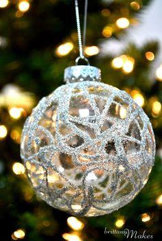 German Glitter Glass Ornament | Community Post: 39 Ways To Decorate A Glass Ornament