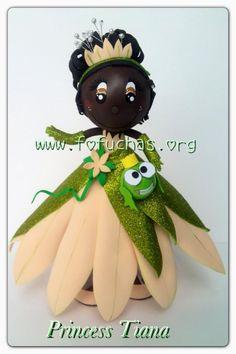 Princess Tiana fofucha  #fofuchas #crafts #decorationideas