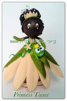 Princess Tiana fofucha  #fofuchas #crafts #decorationideas
