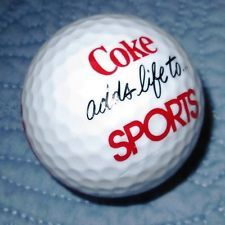 "Vintage Coca Cola Golf Ball - ""Coke Adds to Life Sports"""