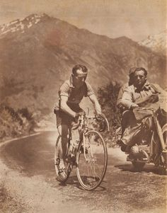1952 6/7 rit 11 Col du Télégraphe > Jean Robic climbing