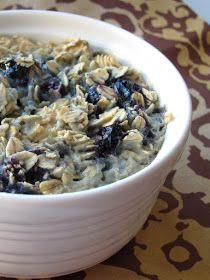The Oatmeal Artist: Blueberry Almond Baked Oatmeal