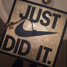 My graduation cap! Nike. Just did it ✔️