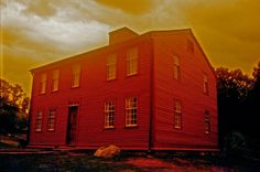 redscale photography 35mm film Louisa May Alcott house at Fruitlands Museum Harvard MA by Lisa Shea
