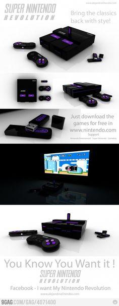 Concept design for Super Nintendo. Shut up and take my money. Mode Geek, Xbox 1, Playstation, Retro Videos, Take My Money, Video Game Art, Super Nintendo, Nintendo Consoles, Games Consoles
