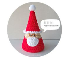 cosicasraquel: Santa Claus Amigurumi Diy Crochet, Creations, Santa, Christmas Ornaments, Knitting, Holiday Decor, Crafts, Home Decor, Holidays