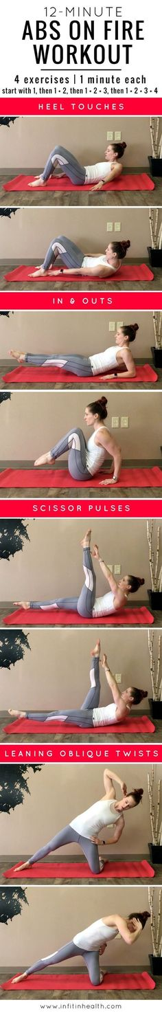 12-Minute Abs On Fire Workout   In Fitness and In Health