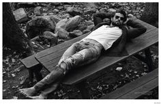 Walter Savage Embraces Casual Rugged Styles for Da Man image Walter Savage 2014 Da Man Photo Shoot 008