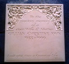HEADSTONE CARVING - Google Search