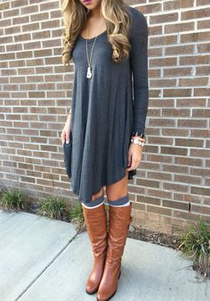 Gray t shirt dress