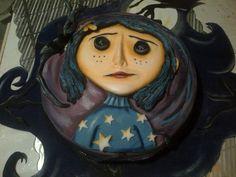 Coraline Art, Coraline Jones, Halloween Cakes, Halloween Treats, Scary Cakes, Tim Burton Characters, Cool Cake Designs, Cute Cakes, Themed Cakes