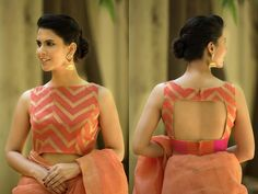 Blouse back neck designs are everything when it comes to picking a good blouse. Here are 40 latest blouse back neck designs that will inspire you to stitch the best blouse for your big day! Blouse Back Neck Designs, Fancy Blouse Designs, Sari Blouse Designs, Designer Blouse Patterns, Blouse Styles, Latest Blouse Designs, Dress Designs, Blouse Designs Wedding, Designer Saree Blouses