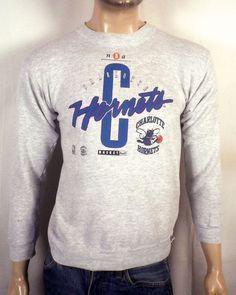 362677c917a05 vtg 90s Logo 7 NBA Charlotte Hornets Sweatshirt johnson mourning SZ S.  Charlotte HornetsSnapback HatsNbaGraphic ...