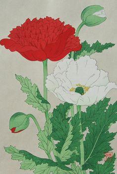 Keshi(Poppy)  by Kawarazaki Shodo (1889 -1973)