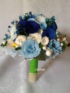 niebieski z krepiny