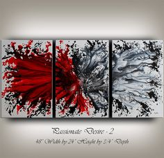 Original Acrylic Abstract painting by ContemporaryArtDaily on Etsy, $450.00