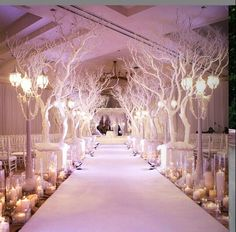 Winter wonderland aisle decor #piecesandposies