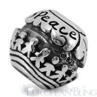 Ohm World Peace Bead  part 1 for TPAWS bracelet/necklace