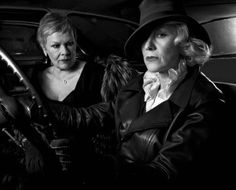 JUDI DENCH AND HELEN MIRREN BY ANNIE LEIBOVITZ  Two of the best from England, great ladies
