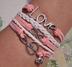 Love bracelet Infinity Bracelet Music note by SummerWishes on Etsy