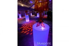 LUNA CYLINDER HIGHBOY - can be illuminated in any color