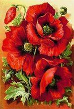 Cruz bordado rusia Flowers red rose pinturas Diy diamante mosaico completo de patrón de imagen de punto de cruz Rhinestone recién llegado(China (Mainland))