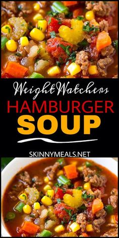 Healthy Weight Do you love Soups ? if yes this hamburger soup is for you… healthy and more than that weight watchers friendly. come with only 2 Weight watchers smart points. Weight Watcher Dinners, Plats Weight Watchers, Weight Watchers Soup, Weight Watcher Recipes, Weight Watcher Vegetable Soup, Weigh Watchers, Weight Loss Soup, Weight Watcher Points, Weight Watcher Breakfast