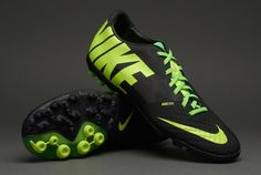 Nike Football Boots - Nike Bomba Finale II - Fives - Astro Turf - Soccer Cleats - Black-Volt-Electric Green