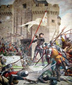 Jeanne d'Arc at the Siege of Orleans. Hundred Years War.