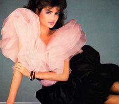 Valentino, Harper's Bazaar, March 1982. Photograph by Albert Watson.