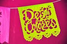 DE COLORES song lyric papel picado mini banners - set of 2 - Ready Made