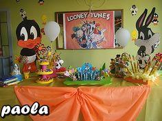 mesa principal looney tunes - FIESTAIDEAS.com