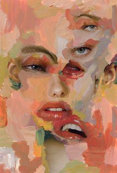 A Level Art Sketchbook, Arte Sketchbook, A-level Kunst, Arte Gcse, Art Sketches, Art Drawings, Distortion Art, Arte Indie, Art Alevel