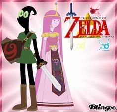 Nergal And Princess Bubblegum The Legend Of Zelda Nergal's Legendary Nergal as Young Link And Princess Bubblegum as Princess Zelda Cartoon Network HD 2017 Art By Nathaniel