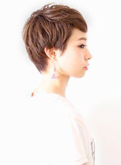 ミアファロー風ベリーショート(髪型ショートヘア)