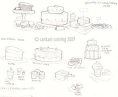 Candace Illustration: Cafe Food and Drink Concept Sketches