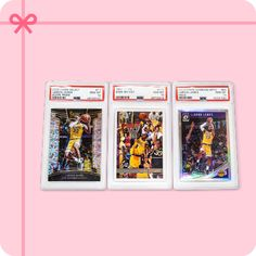- LeBron James Scope Prizm 2018 Select Card PSA 10 - Kobe Bryant 1997 Topps Second Year Card PSA 10 - LeBron James Donruss Optic 2018 First Year Laker Holo PSA 10 Kobe Bryant, Lebron James, Unique Gifts, Mosaic, Holiday, Cards, Vacations, Mosaics