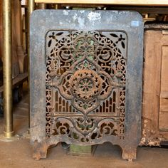 Cast Iron Fireplace Summer Front Cover - Columbus Architectural Salvage
