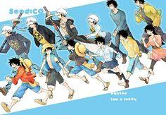 Law & Luffy art by「柞」