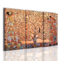 Foto reali. Riproduzione albero della vita Klimt | QUADRI FAMOSI ...