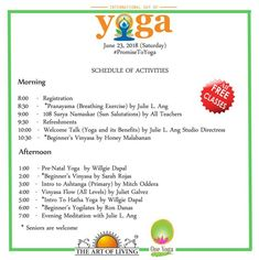 Free Yoga Classes to Celebrate International Day of Yoga Free Yoga Classes, Surya Namaskar, International Day, Pranayama, Open House, Fit, Cagayan De Oro, Shape