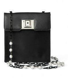 4778f587e118 Andrew Gn Black Nylon and Leather Pocket Bag Best Handbags