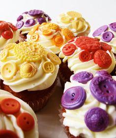 Cupcakes con botones :)