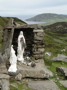 Wayside shrine, Mamore Gap, Co. Donegal by Michael Marrison | St Eigne's well is close to this shrine, a place of pilgrimage for centuries.