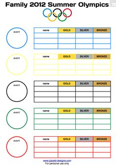 A Bit Of This and A Bit Of That: boredom busters for the 2012 Olympics with free printable