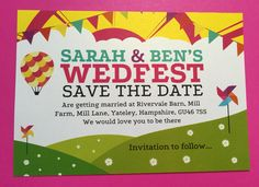 Wedfest save the date festival style magnets by Fuschia