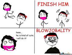 FINISH HIM Mortal Kombat Memes, Finish Him, It Is Finished, Comics, Funny, Cute, Kawaii, Comic Book, Ha Ha