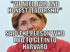 Elizabeth Warren..a shameful disgrace...how can she show her face in public????